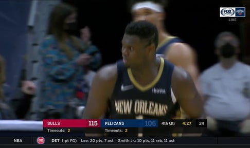 HIGHLIGHTS: Zion Stays with the Play after Block and DUNKS It