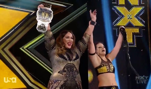Nia Jax and Shayna Baszler defend Tag Team Titles against Raquel Gonzalez & Dakota Kai