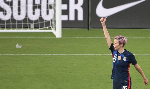 USWNT control Brazil, 2-0, behind goals from Megan Rapinoe and Christen Press