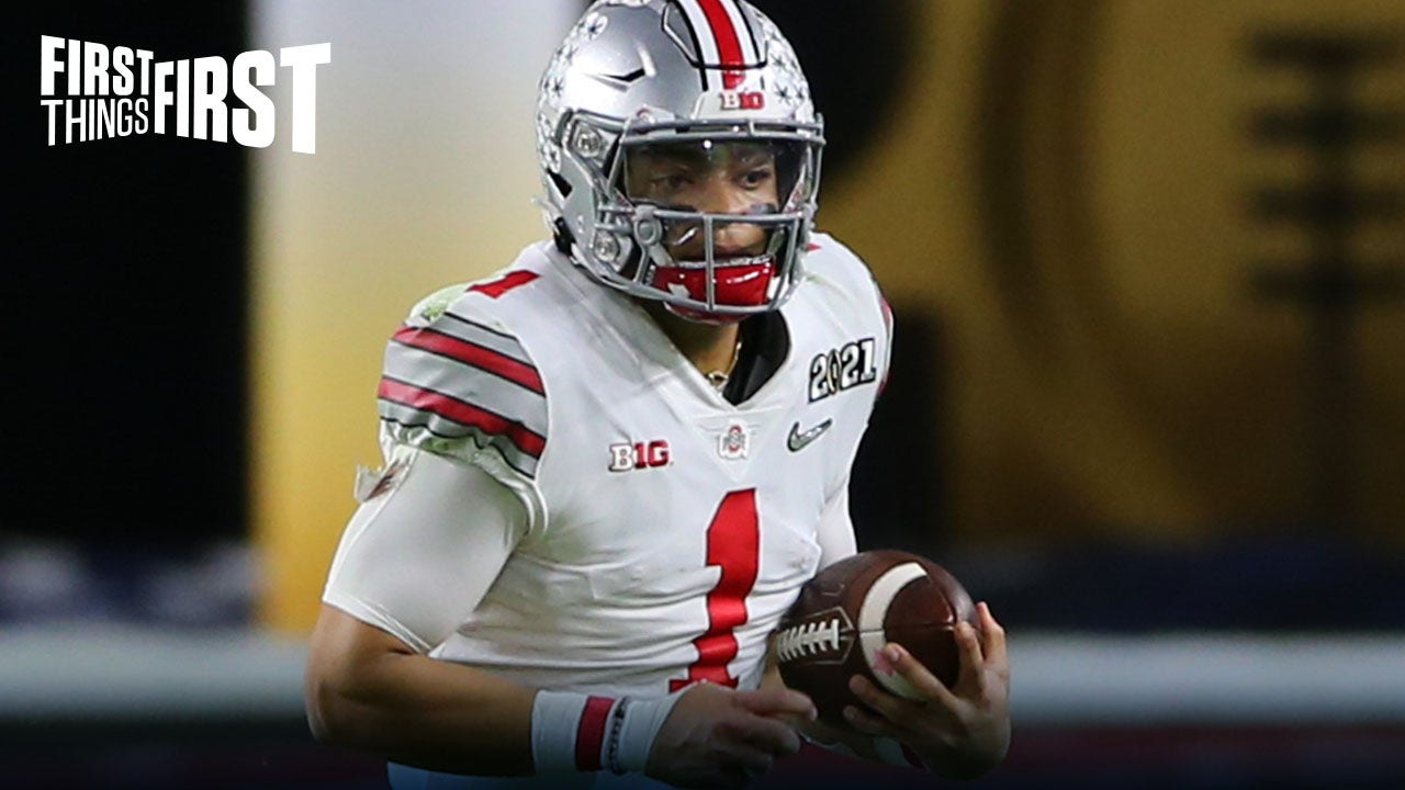 James Laurinaitis: I think Justin Fields is best QB in 2021 NFL Draft Class | FIRST THINGS FIRST