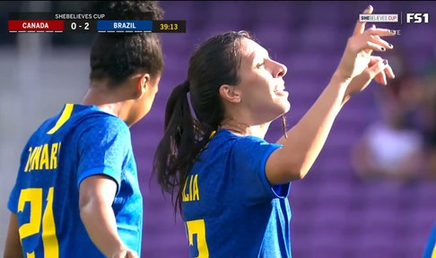 Brazil takes commanding 2-0 lead over Canada as Julia Bianchi scores before halftime