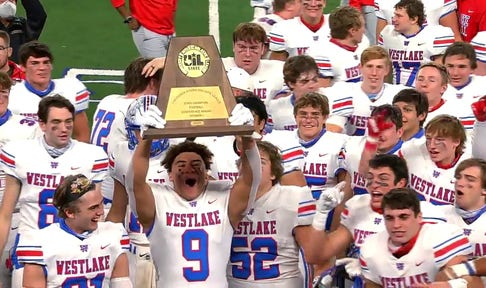 Austin Westlake Raises up the State Championship Trophy