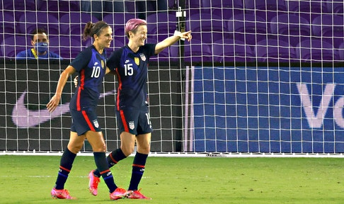 Megan Rapinoe scores twice to become leading goal scorer in SheBelieves Cup history