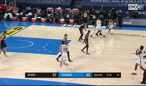 HIGHLIGHTS: Shai Cuts through and finds his way to the Rim