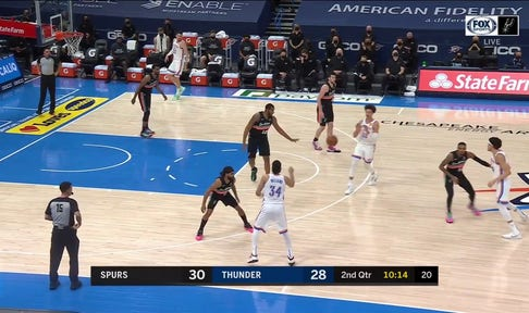 HIGHLIGHTS: LaMarcus Aldridge Nails the 3-Point Jumper in the 2nd