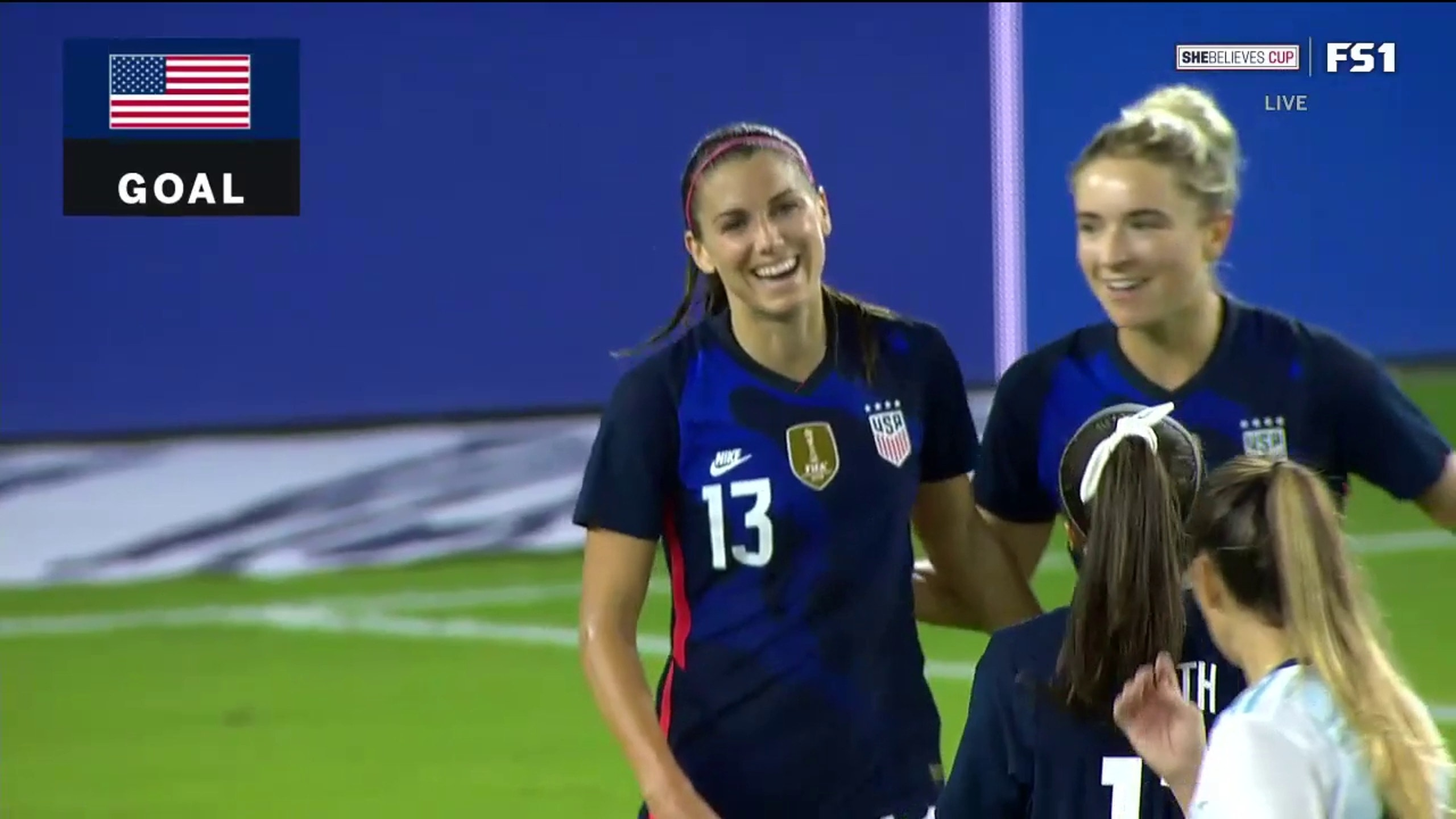 USWNT's Alex Morgan scores first goal since becoming a mom