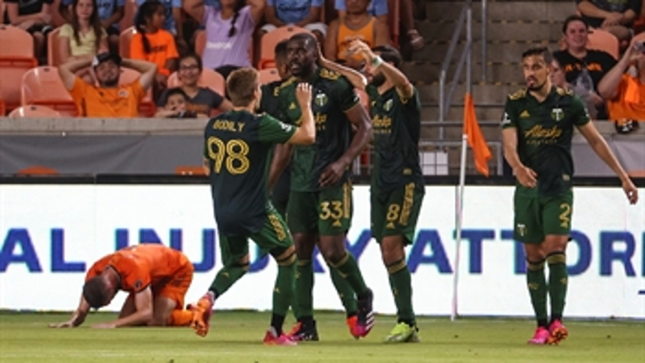 Jeremy Ebobisse's added-time equalizer helps Timbers salvage 2-2 draw vs. Houston Dynamo