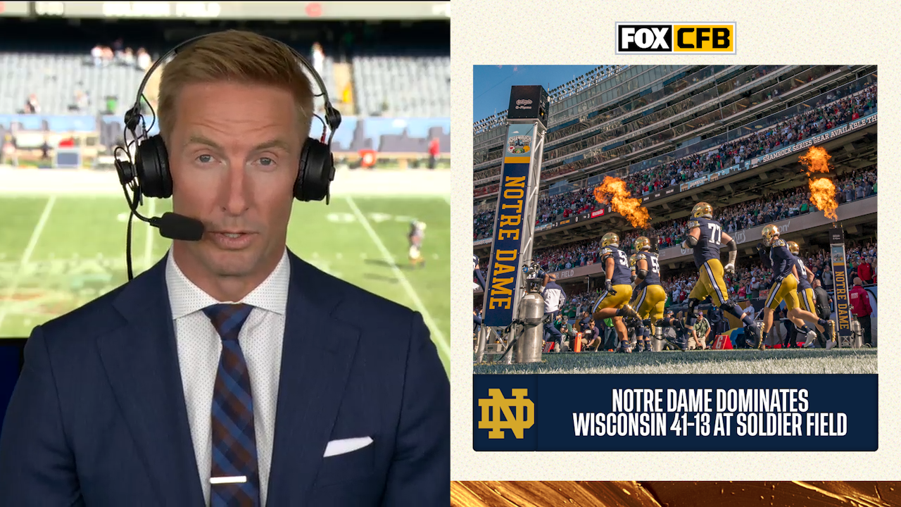 'Be excited about this team and its future' - Joel Klatt on Notre Dame's win over Wisconsin