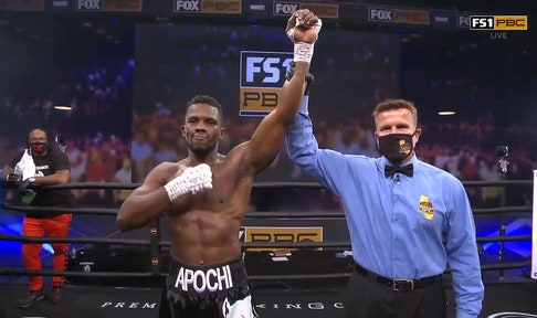 Efe Apochi knocks Joe Jones down three times on way to 10th-career KO win
