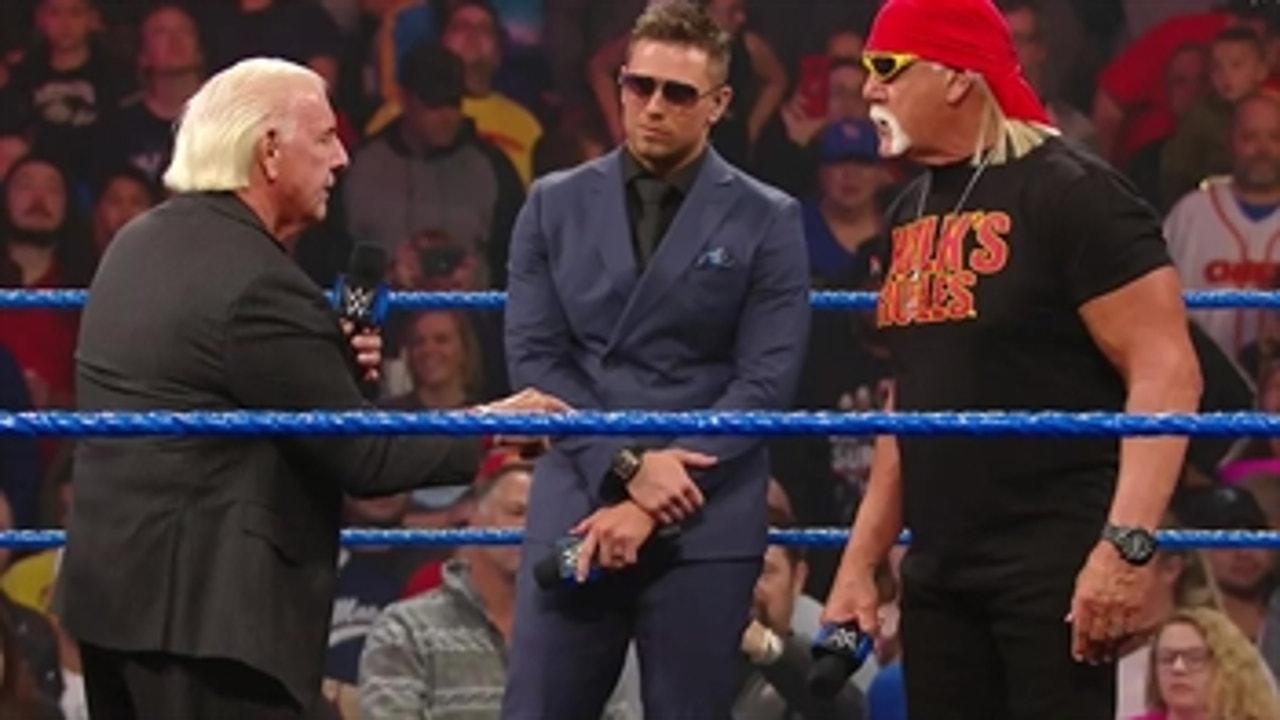 Hulk Hogan and Ric Flair talk trash before Team Hogan and Team Flair brawl
