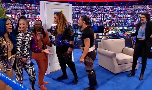 "Nia Jax and Shayna Baszler join Bayley on ""Ding Dong, Hello!"""