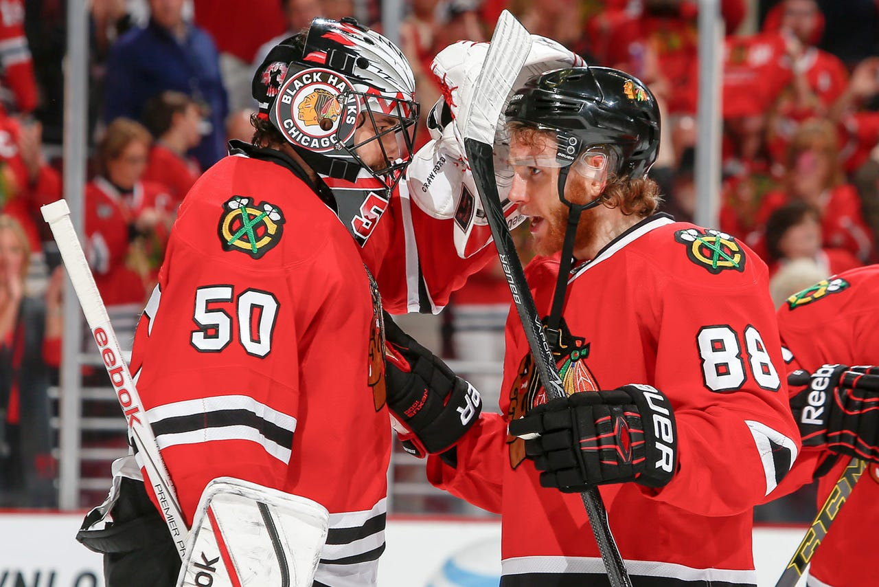 Blackhawks Crawford Has New Mask For Outdoor Game Vs Wild Fox Sports