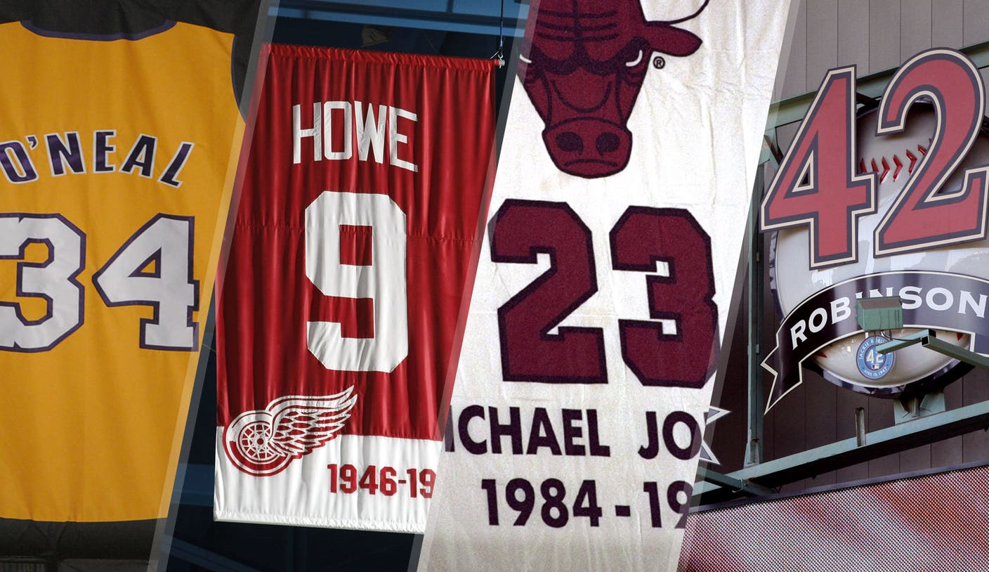 Shaq and 31 more athletes with numbers retired by multiple teams ...
