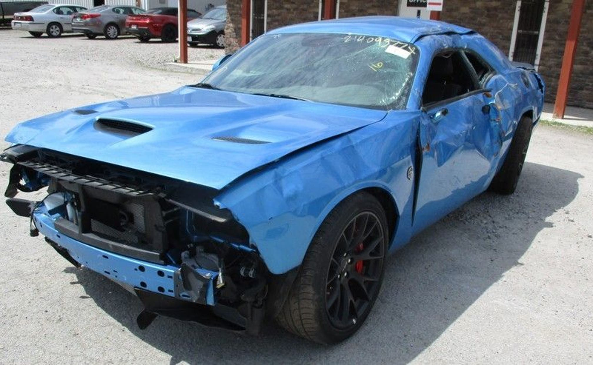 dodge hellcat for sale salvage Dodge Challenger SRT Hellcat wrecked after just 18 miles