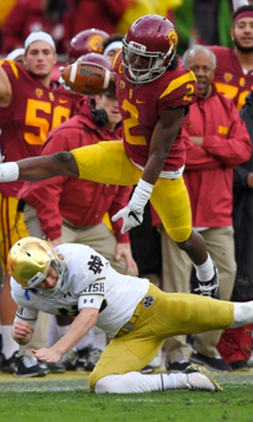 Adoree does it all in No. 12 USC's 45-27 rout of Notre ...