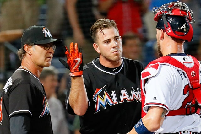 The Benches Cleared When Atlanta Braves Reliever Buzzed Jose Fernandez S Head Fox Sports