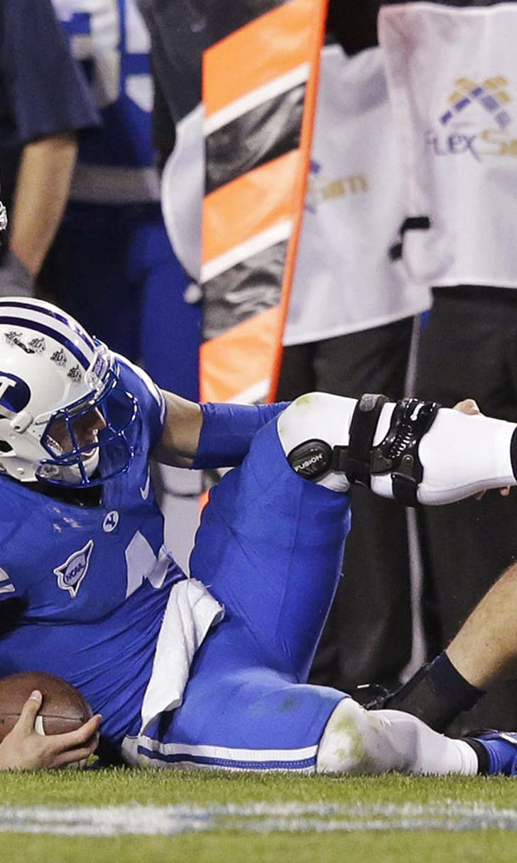 likely Hill for QB Taysom season BYU leg, done fractures