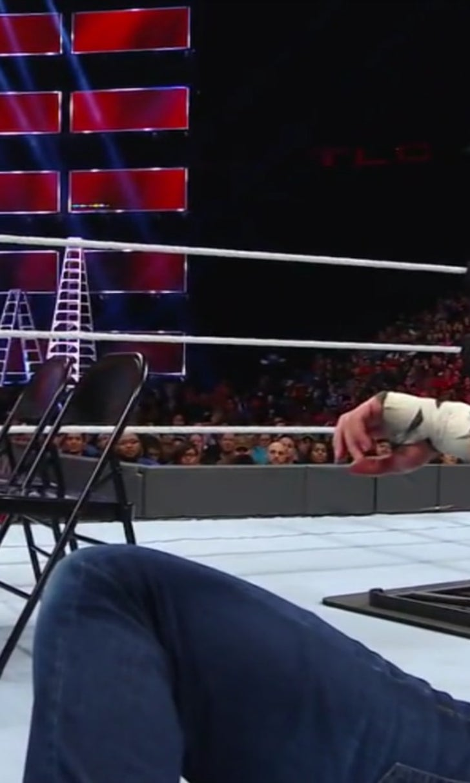 WWE star AJ Styles has a wardrobe malfunction during ...