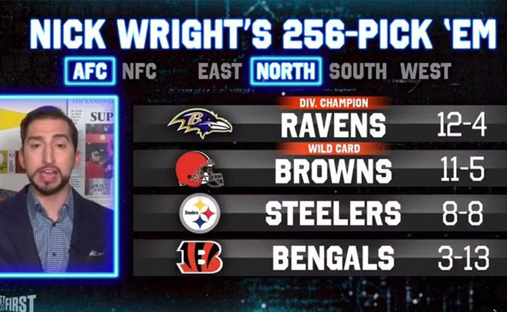 Nick Wright Picks Every Game: AFC North   FOX Sports